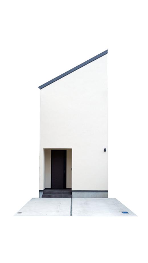狭小住宅 塗り壁 外観