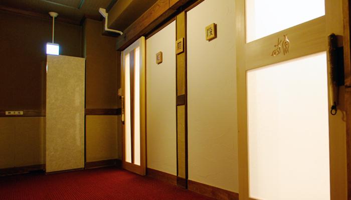 丁子屋トイレリノベーション、広重ブルーの浮世絵厠、店舗 トイレ