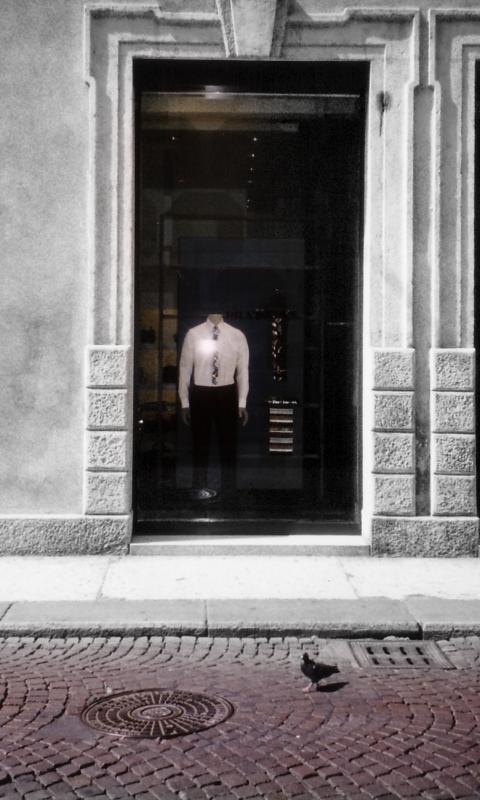 イタリアフィレンツェのPRADAの前