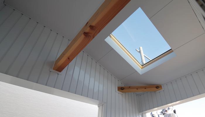 インナーテラスの天窓