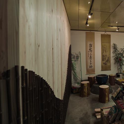 八百屋さんの竹で作るデザイン